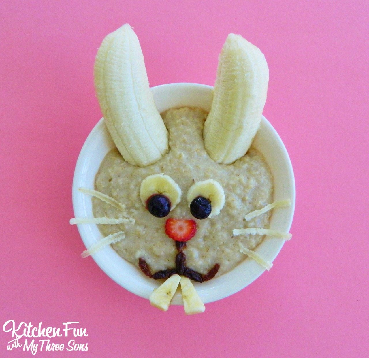 Kitchen Fun And Crafty Friday Link Party 167: Easter Bunny Oatmeal Breakfast