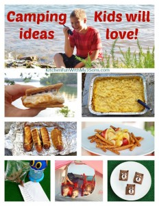 Fun Camping Ideas + Recipes For Kids