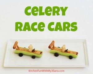 Celery Teddy Race Cars