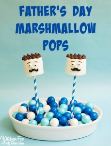 Easy Father's Day Marshmallow Pops
