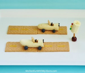 Banana Race Car Teddy Snack