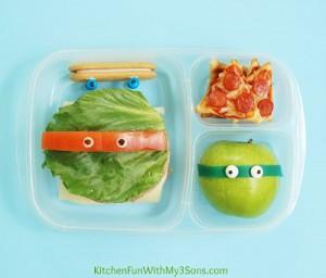 Teenage Mutant Ninja Turtle Bento Lunch with LG Electronics! #LGJrChef