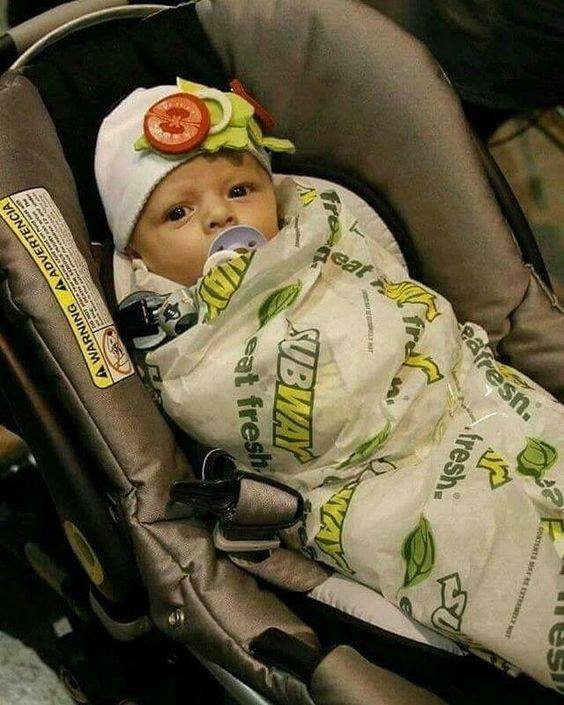 Subway Baby Costume for Halloween