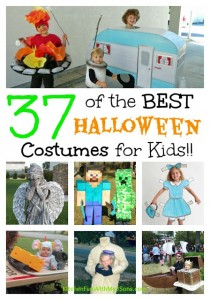 Over 40 of the BEST Homemade Halloween Costumes for Babies & Kids!