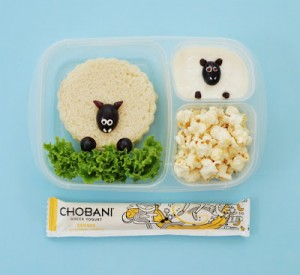 Sheep Bento Lunch with Chobani!