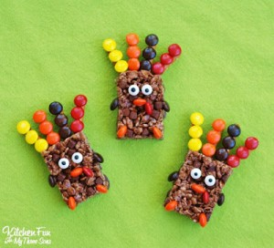 Easy Thanksgiving Rice Krispie Turkey Treats