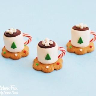 Christmas Hot Chocolate Marshmallow Mug Treats from KitchenFunWithMy3Sons.com
