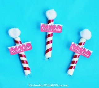 Christmas North Pole Cheese Stick Snacks with a Free Printable!