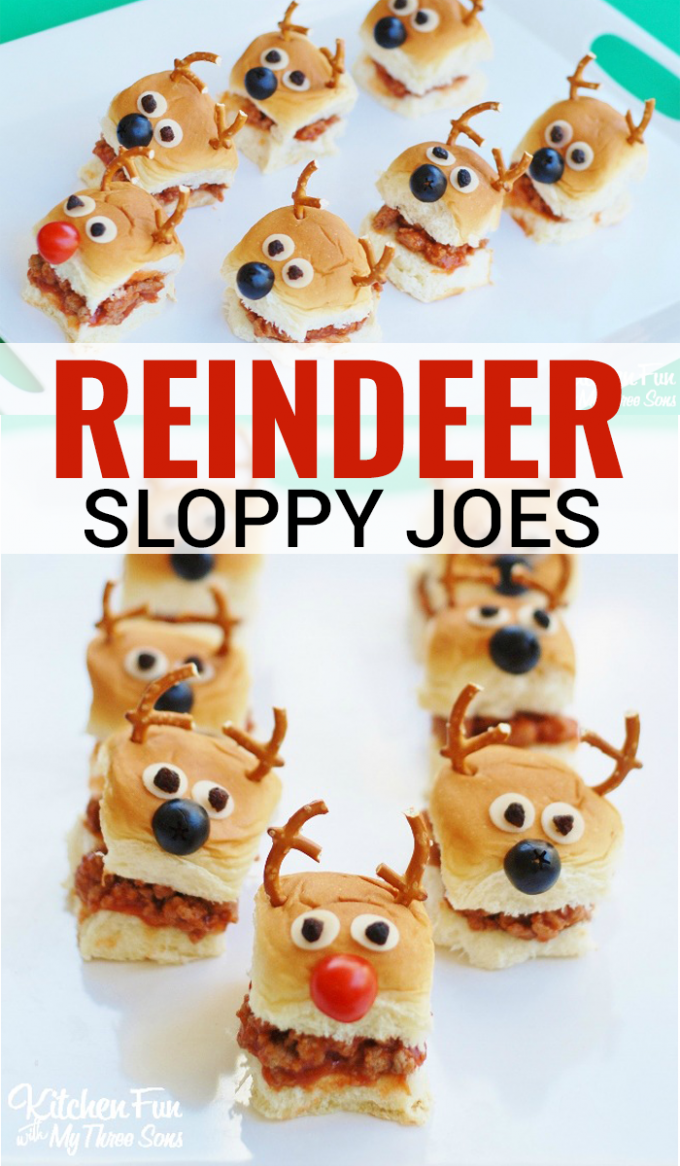 Reindeer Sloppy Joe Sliders
