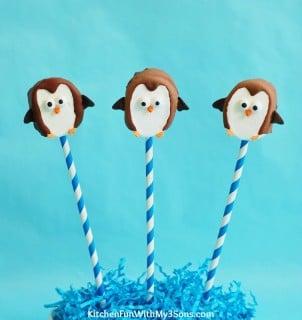 Easy Marshmallow Penguin Pops