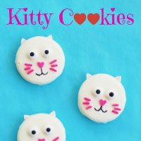 Easy Valentine Oreo Kitty Cat Cookies from KitchenFunWithMy3Sons.com