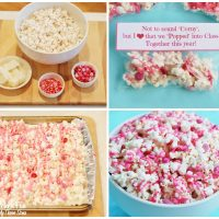 Valentine's Day Popcorn & Candy Snack with a Free Printable from KitchenFunWithMy3Sons.com