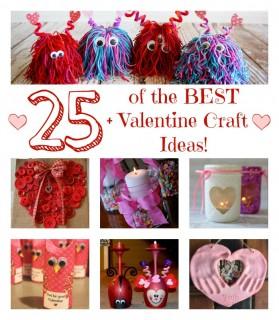 25+ of the BEST Valentine's Day Craft Ideas!
