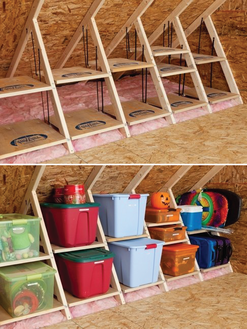 DIY ATTIC STORAGE...FANTASTIC IDEA for organizing holiday decor!