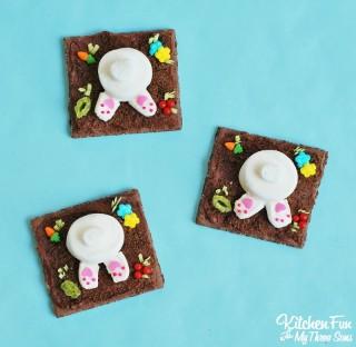 Garden Bunny Butt Cookies