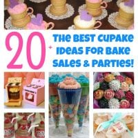 Over 20 of the BEST Cupcake Ideas for Bake Sales & Parties from KitchenFunWithMy3Sons.com