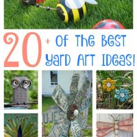 Over 20 of the BEST Yard Art Ideas