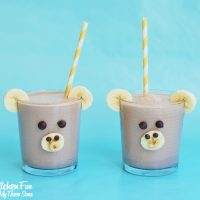 Smoothie for Kids - Chocolate Peanut Butter Banana Monkey from KitchenFunWithMy3Sons.com