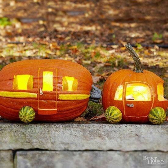 Camper Pumpkins for Halloween