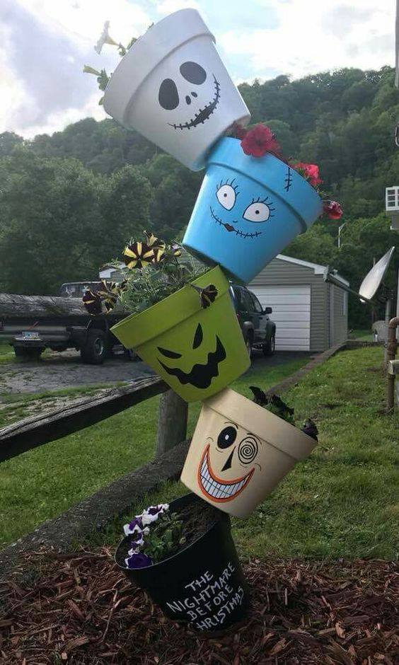 Nightmare Before Christmas Pots