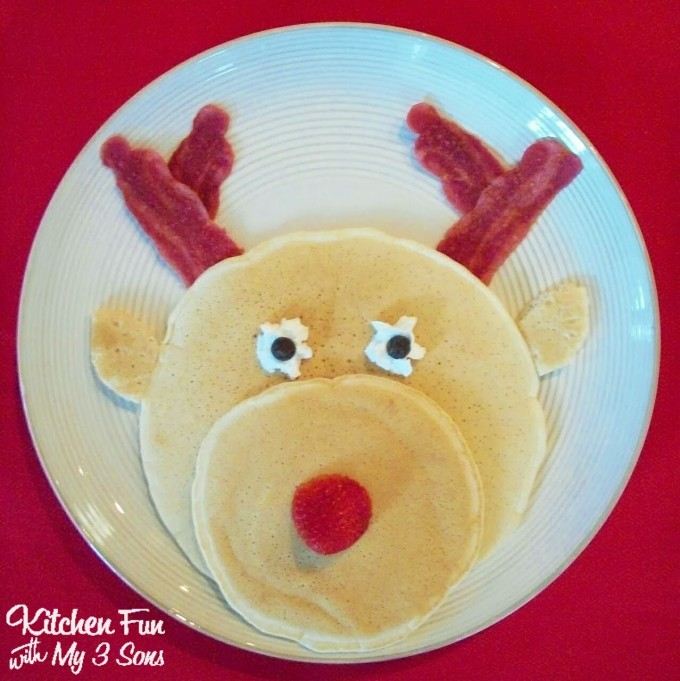 Rudolph the Red Nose Reindeer Pancakes