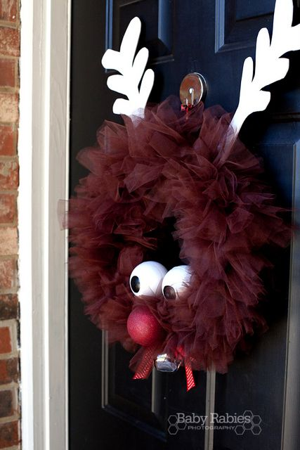 Rudolph the Red Nose Reindeer Tulle Wreath