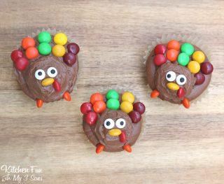 Turkey Cupcakes for Thanksgiving