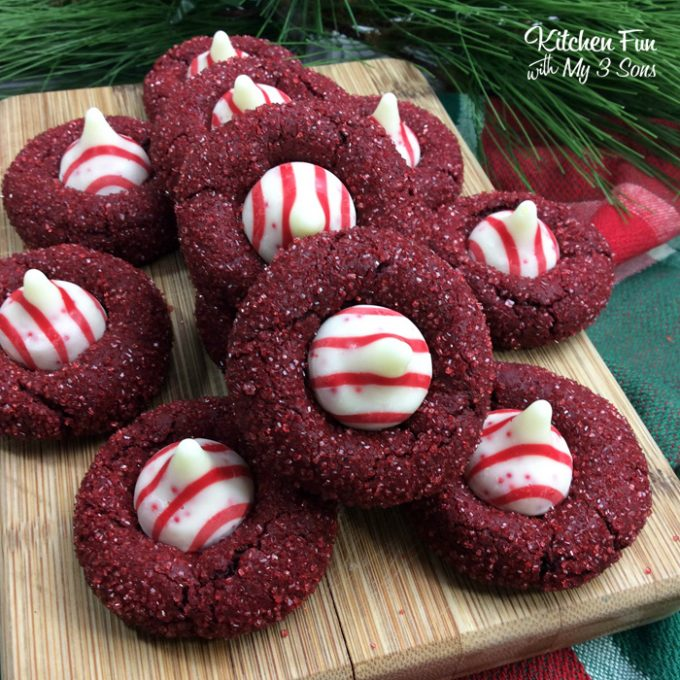 Red Velvet Kiss Cookies - Over 50 of the BEST Christmas Cookie Recipes!