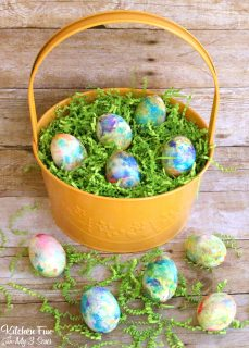 Whipped Cream Dyed Eggs – for Easter!