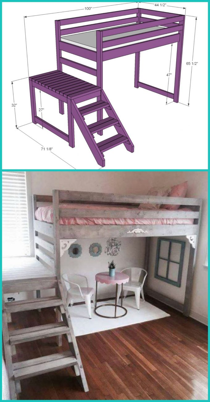 DIY Loft Bunk Beds