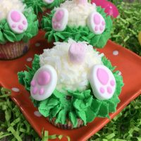 Easter Bunny Butt Cupcakes