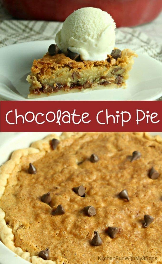 The BEST Chocolate Chip Pie