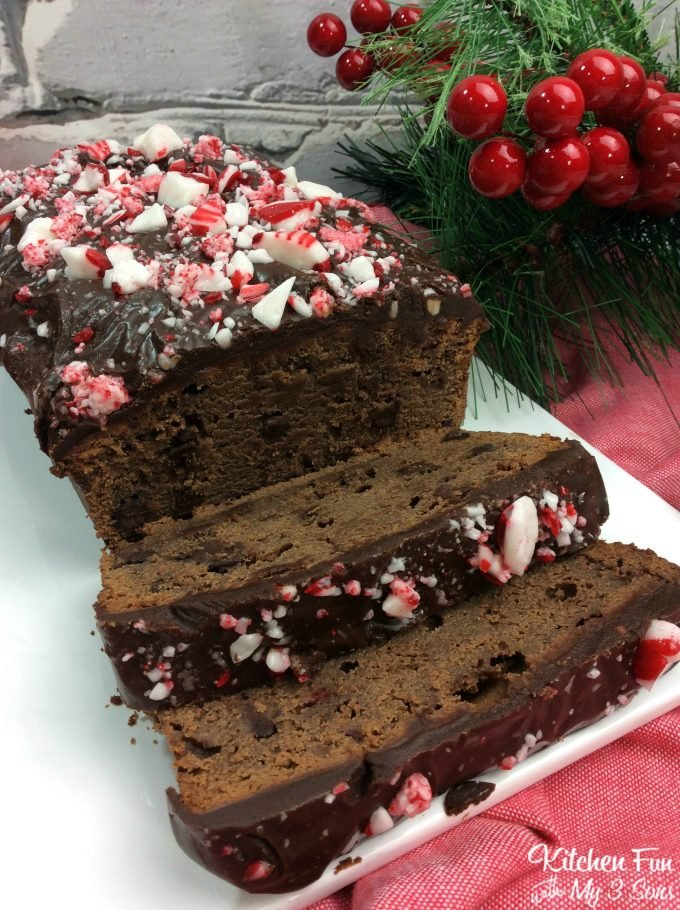 Christmas Chocolate Peppermint Loaf