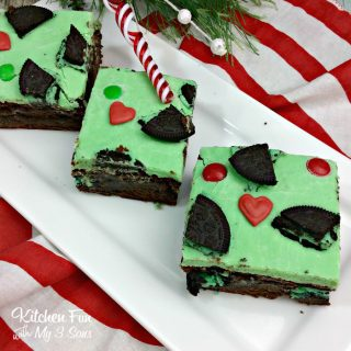 Christmas Grinch Brownies