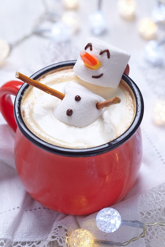 Christmas Marshmallow Snowman Hot Cocoa