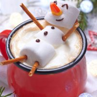 Christmas Marshmallow Snowman Hot Chocolate