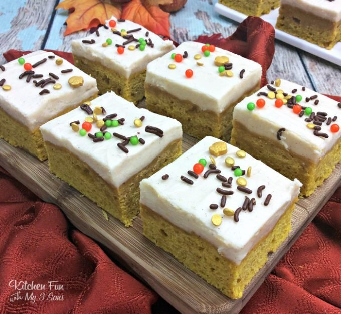 Pumpkin Spice Sugar Cookie Bars