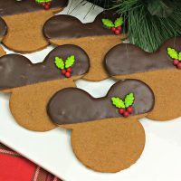 Mickey Mouse Gingerbread Cookies