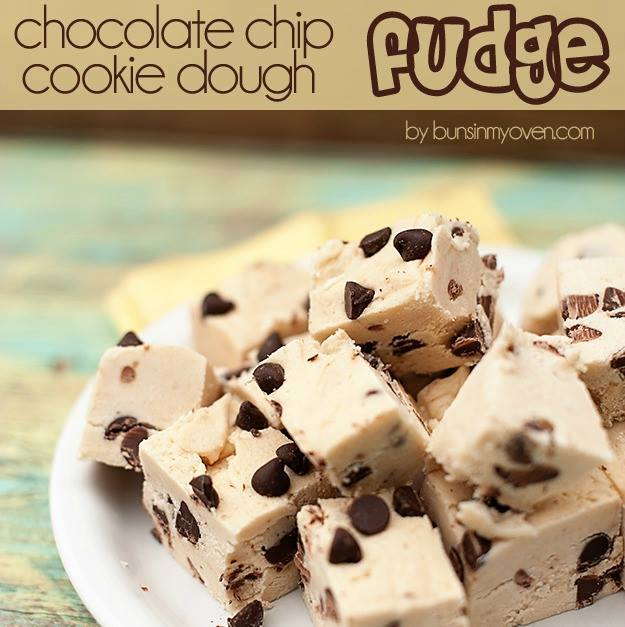 Chocolate Chip Cookie Dough Fudge - The BEST Holiday Fudge Recipes!