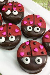Valentine Lady Bug Oreos
