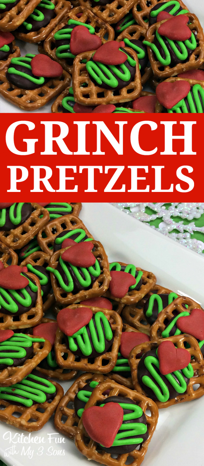 The Grinch Christmas Pretzel Treats