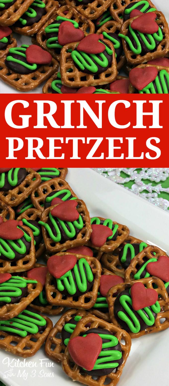 The Grinch Christmas Pretzel Treats