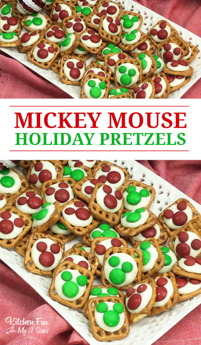 Mickey Mouse Holiday Pretzel Treats