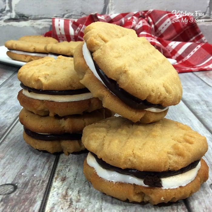 Peanut Butter S'mores Sandwich Cookies