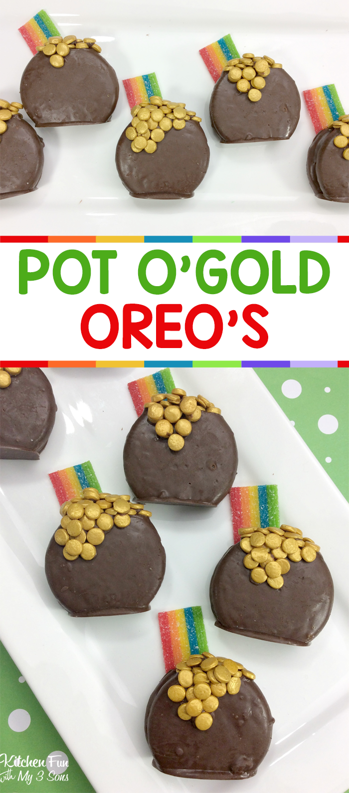 St. Patrick's Day Pot of Gold Oreos