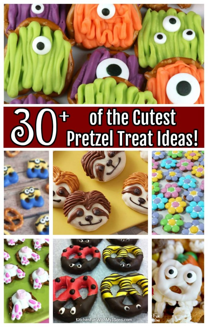 Over 30 of the CUTEST Pretzel Treats!