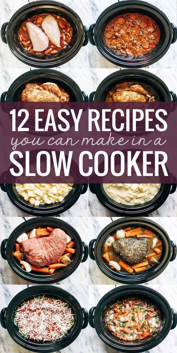 12 Slow Cooker Recipes & more!