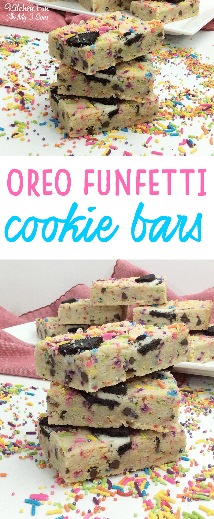 Oreo Funfetti Cookie Bars