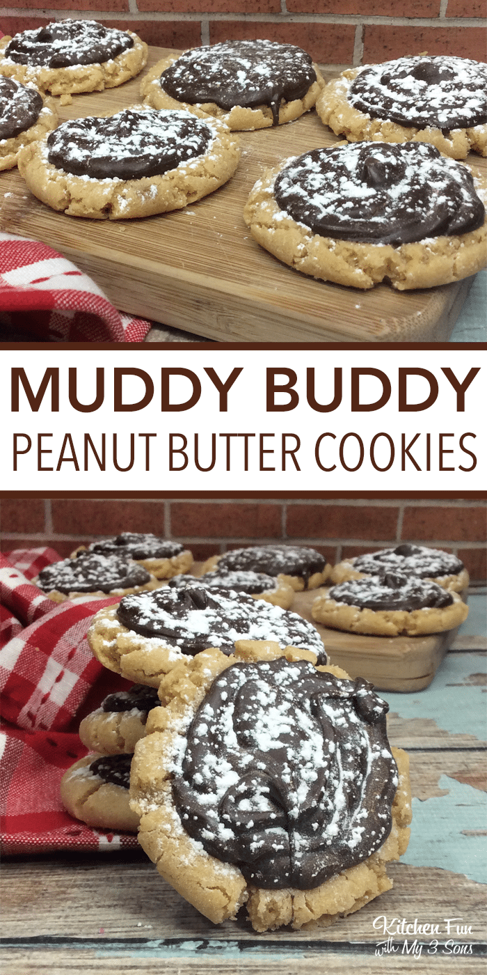 Peanut Butter Muddy Buddy Cookies