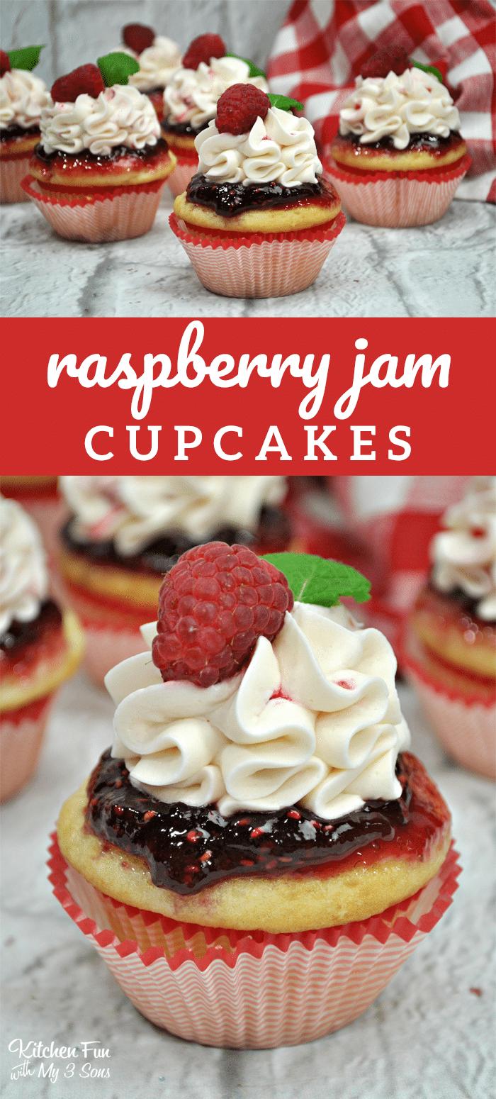 Raspberry Jam Cupcakes